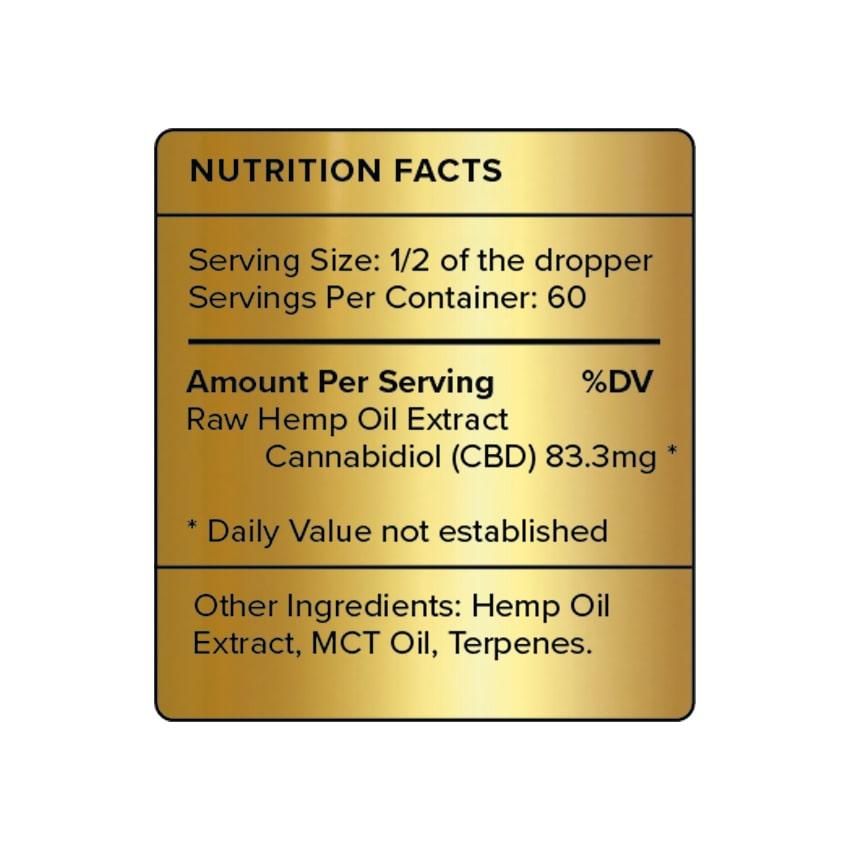PureKana Natural CBD Oil Label 5000mg