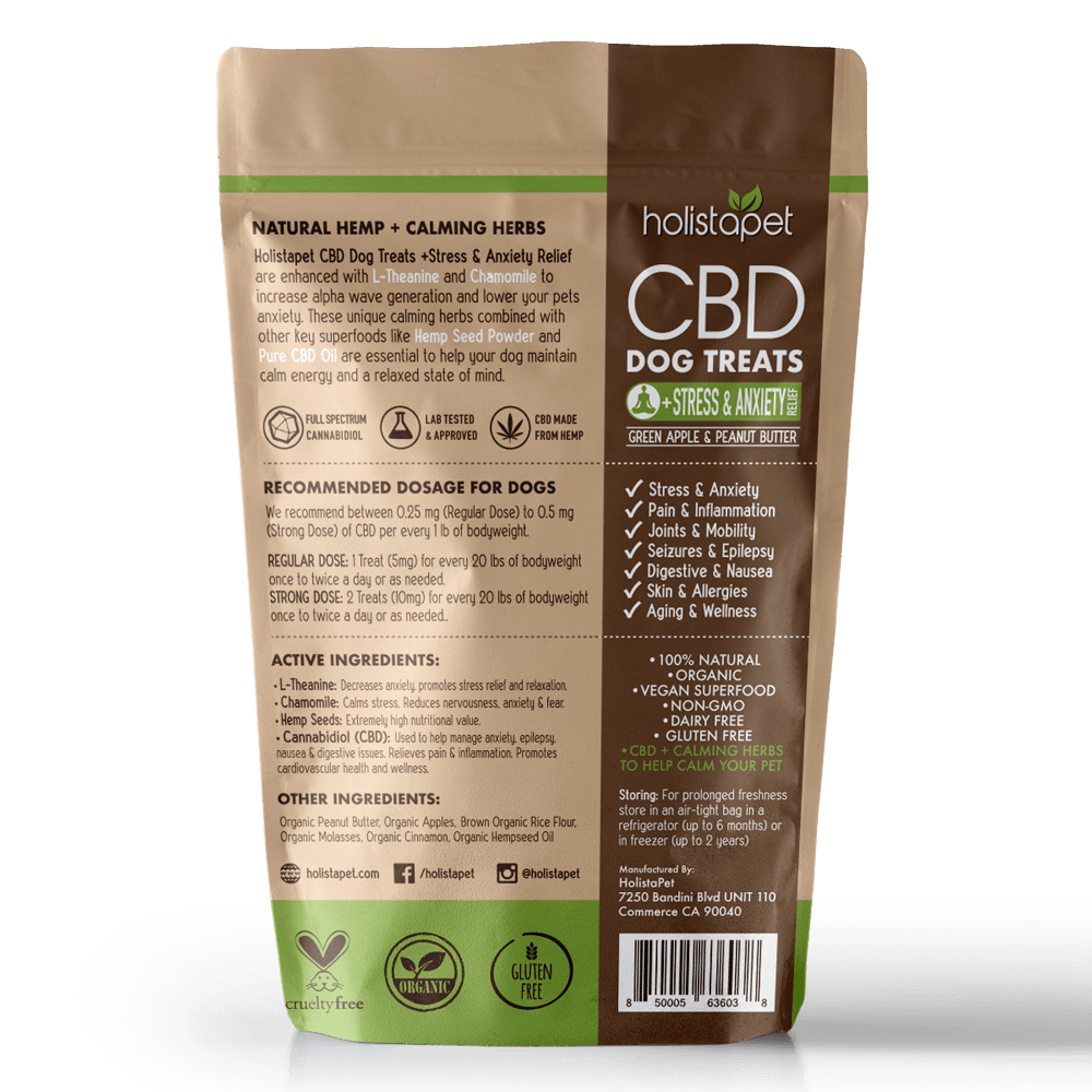 cbd dog treats stress anxiety back