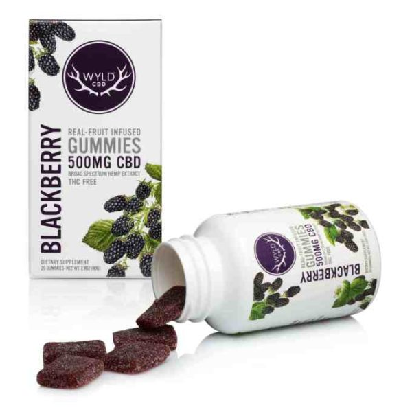 WYLD Blackberry CBD Gummies 500mg