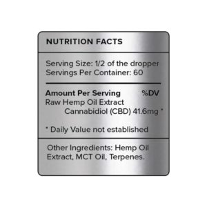 PureKana Natural CBD Oil Label 2500mg