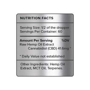 PureKana Natural CBD Oil Label 2500mg