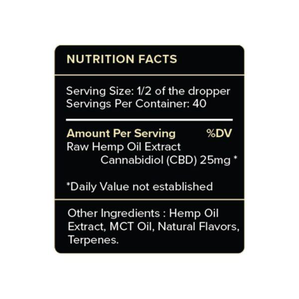PureKana Vanilla CBD Oil Label 1000mg